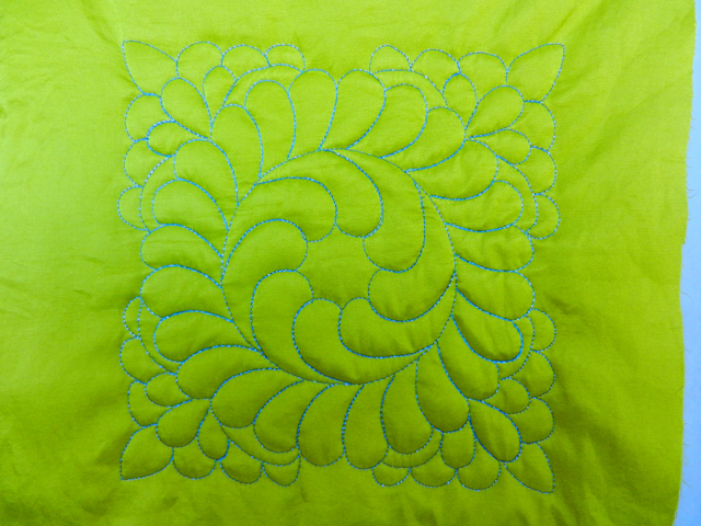 Free Motion Quilting Challenge-Sept
