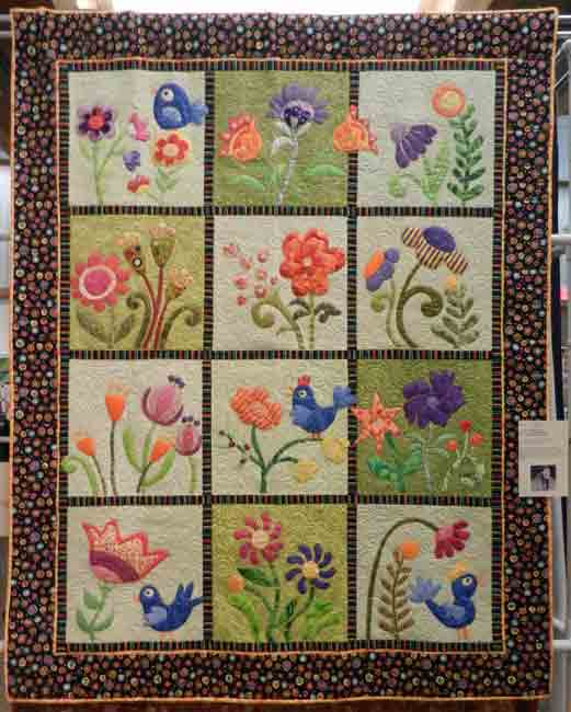 My Whimsical Garden; Lynne Hanson, quilted by Susan Krinks
