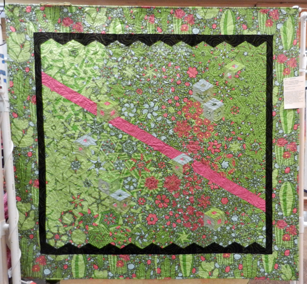 Lounging in the Cacti; Barbara Schreiner, quilted by Sandi Fond #142