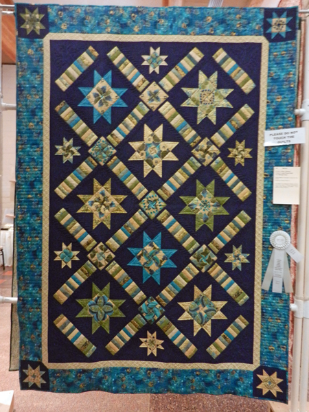 Midnight Stars; Barbara Kiehn, quilted by Brandy Rayburn #157