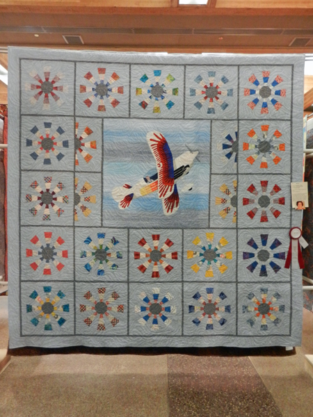 Christen Eagle; Janet Sweetland, quilted by Lin Squires #173