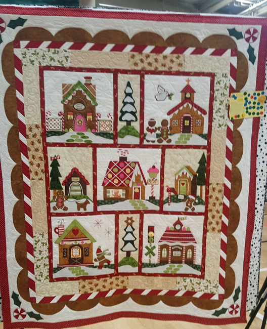 Gingerbread Village, Sally Hunt, Quilted b y Liz Harris