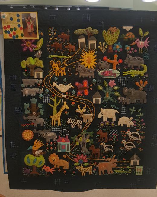 Folktales, Jayne Moore, quilted by Beth Kondoleon